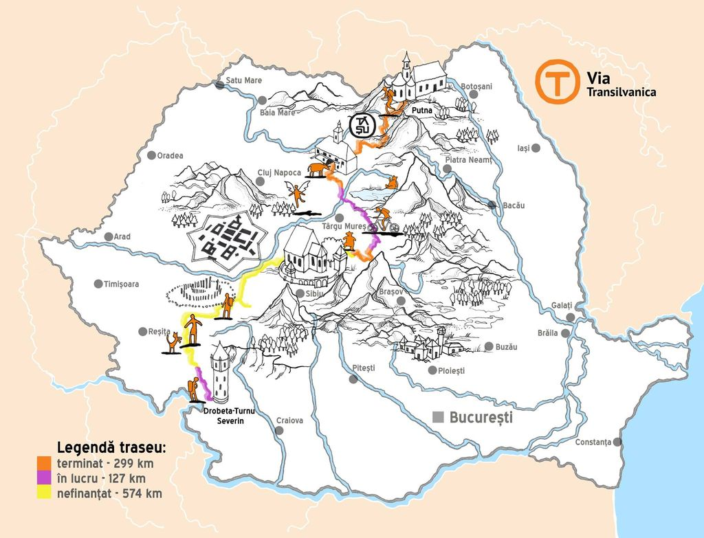 29 septembrie. Via Transilvanica poate primi primii ...  |Via Transilvanica