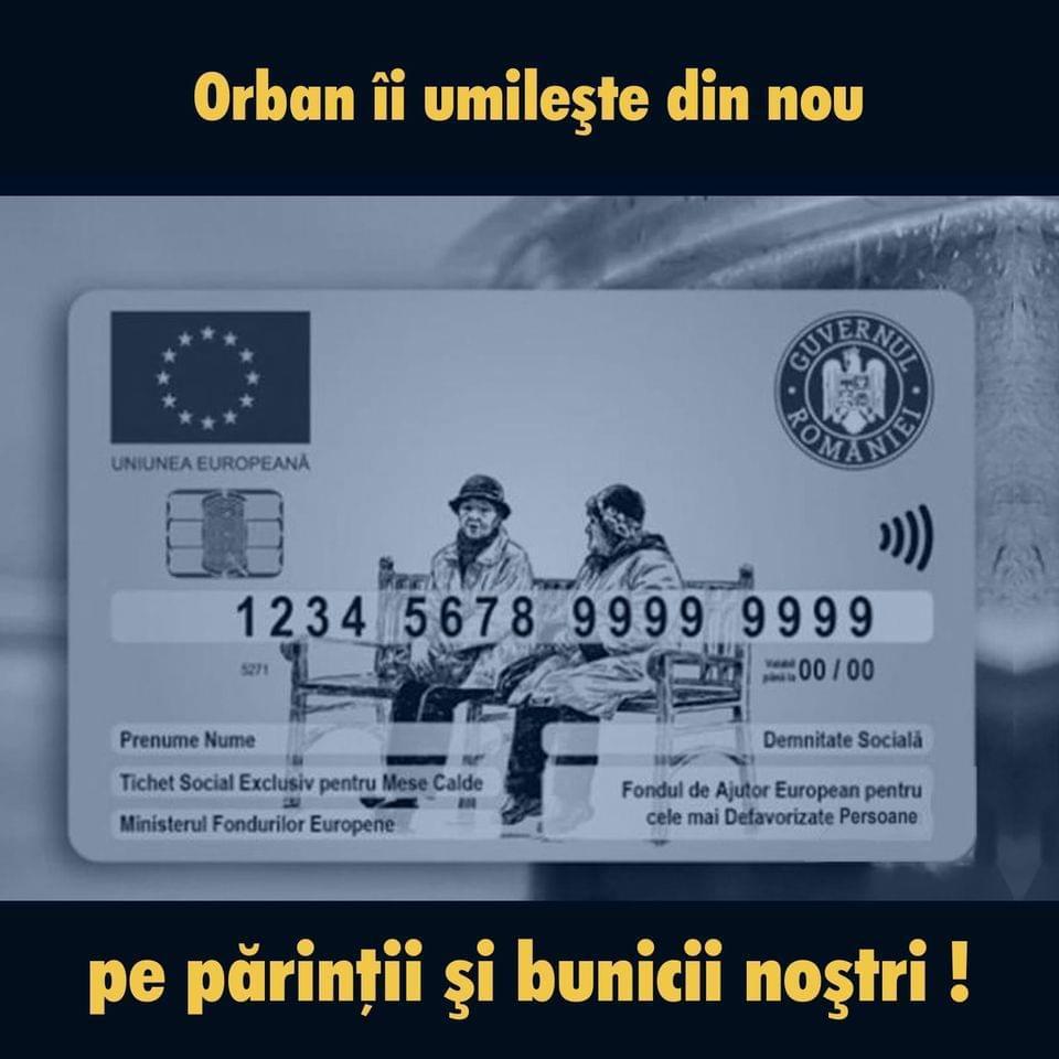 PSD: 6 lei pe zi! Aceasta este rația impusă de Orban celor cu carduri pentru mese calde
