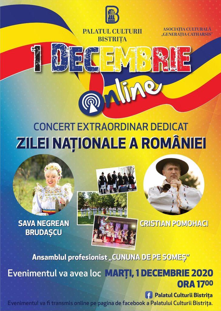 Concert online: De 1 Decembrie sărbătorim românește!