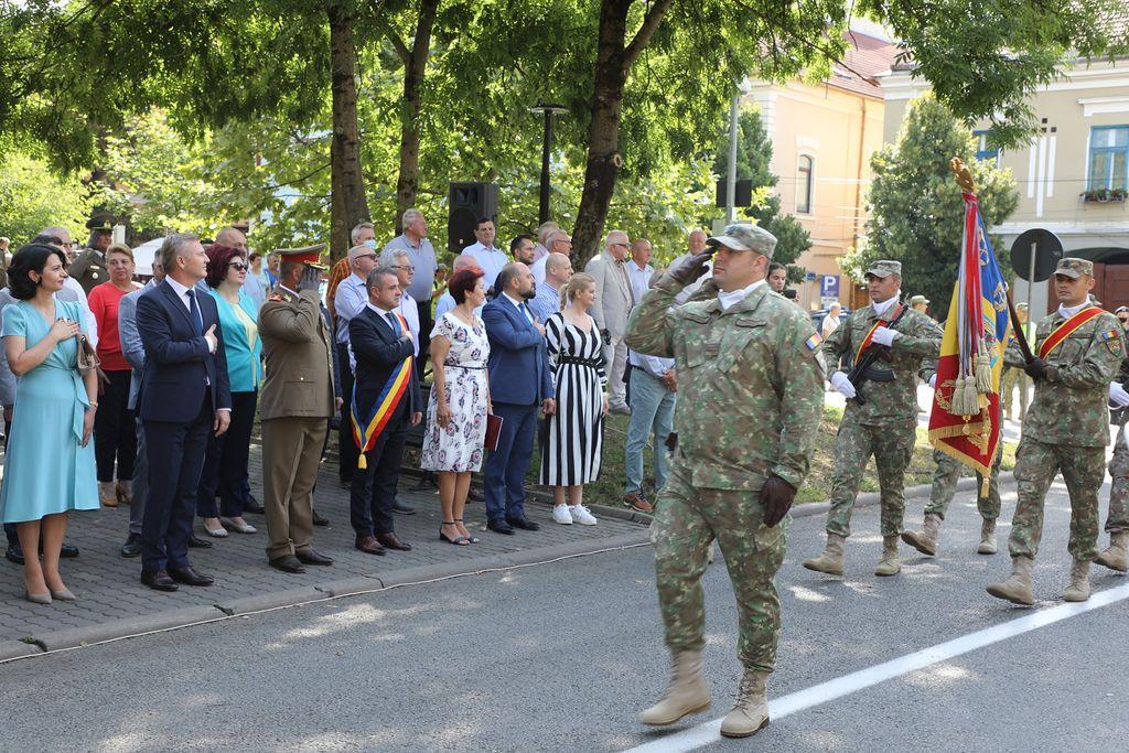 """Ziua Imnului Național, sărbătorită la Bistrița. """"Patriotismul nu trebuie să devină un subiect tabu"""""""
